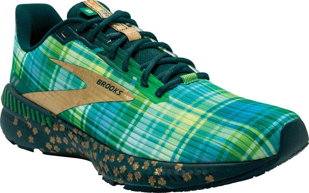 Men's Brooks Launch GTS 8 Running Sneaker, Fern Green/Metallic Gold/Deep Teal, large, image 1