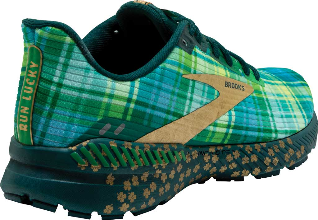 Men's Brooks Launch GTS 8 Running Sneaker, Fern Green/Metallic Gold/Deep Teal, large, image 4
