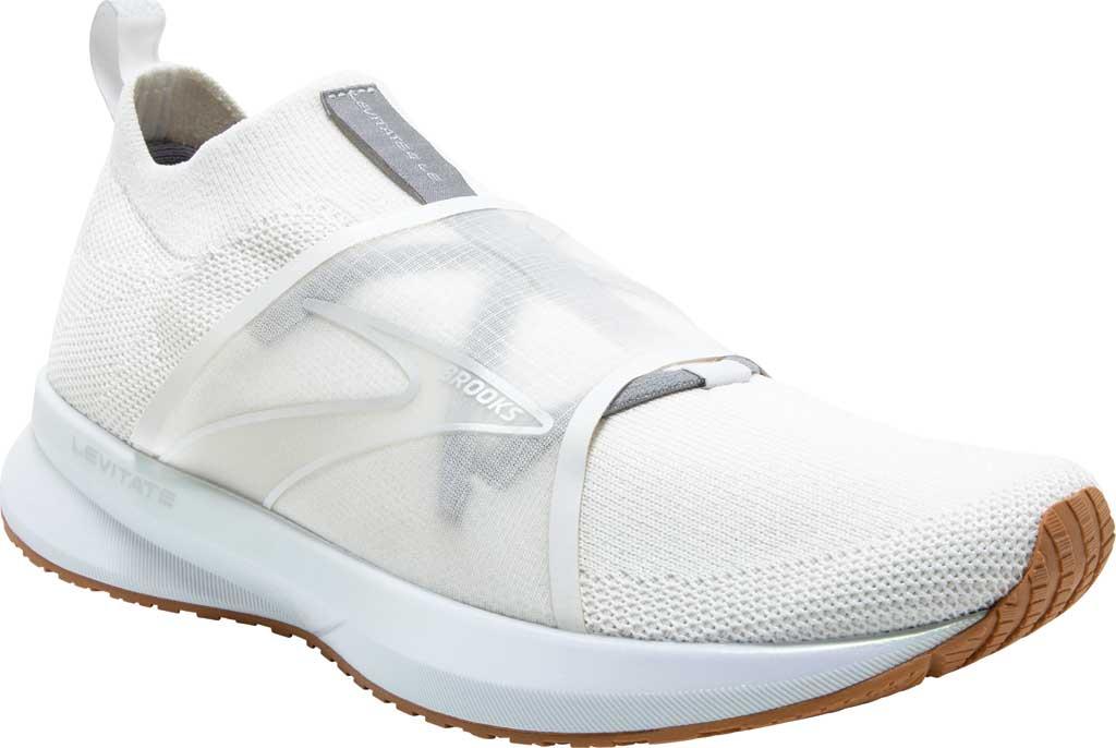 Women's Brooks Levitate 4 LE Running Sneaker, White/Silver/Tan, large, image 1