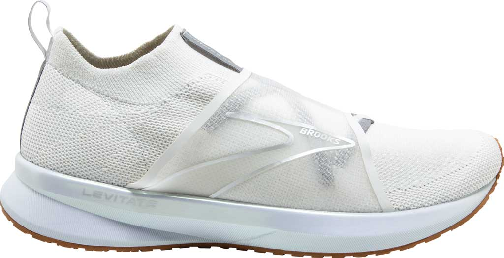 Women's Brooks Levitate 4 LE Running Sneaker, White/Silver/Tan, large, image 2