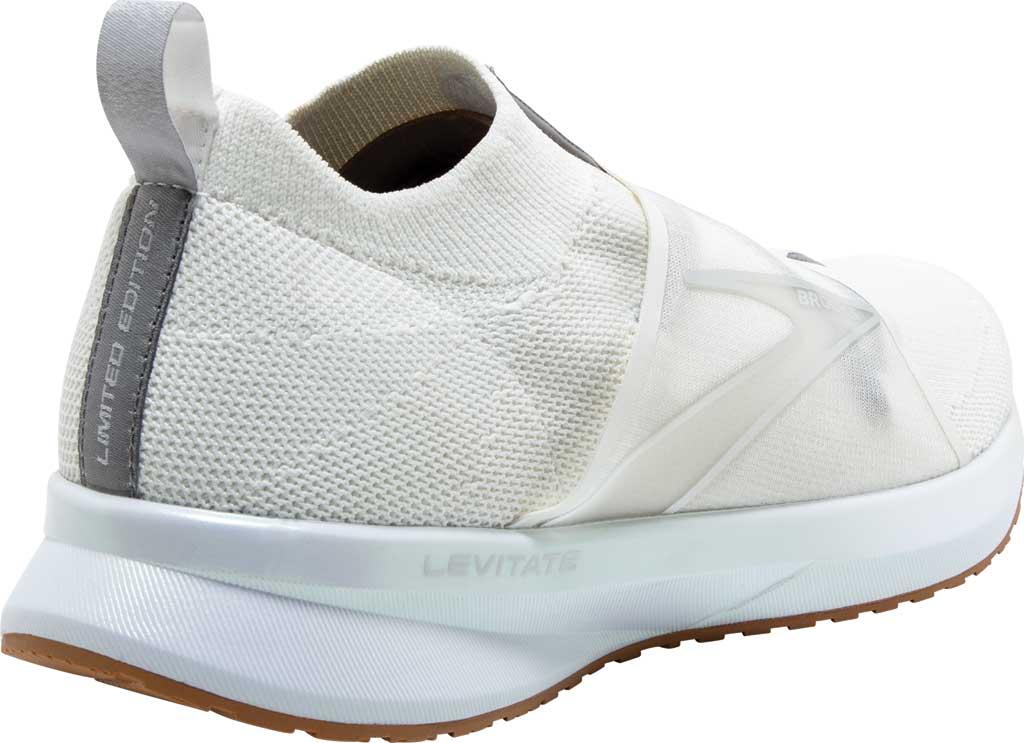 Women's Brooks Levitate 4 LE Running Sneaker, White/Silver/Tan, large, image 4