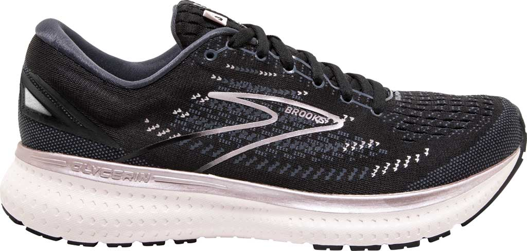 Women's Brooks Glycerin 19 Running Sneaker, Black/Ombre/Metallic, large, image 2