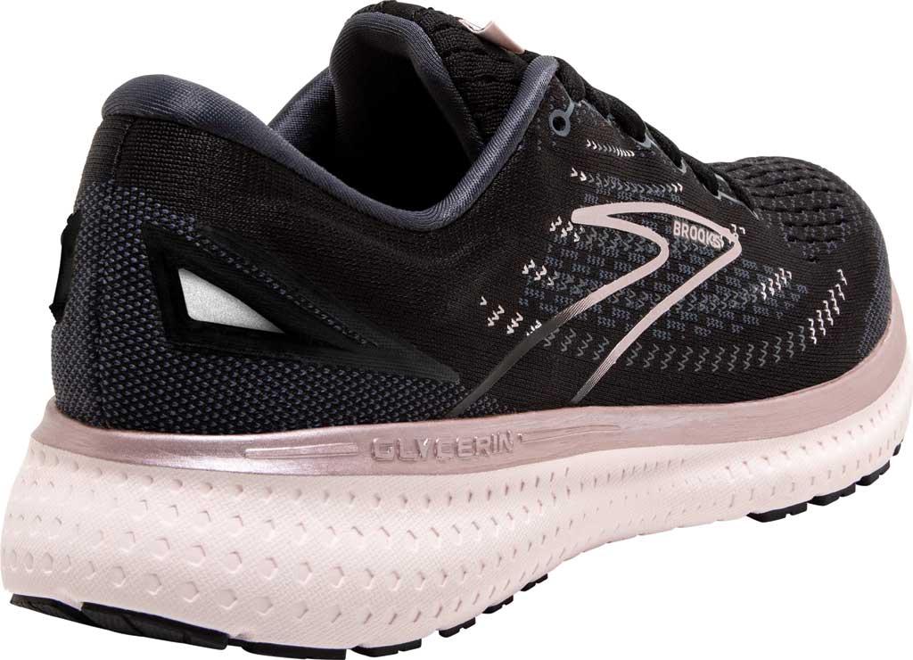 Women's Brooks Glycerin 19 Running Sneaker, Black/Ombre/Metallic, large, image 4