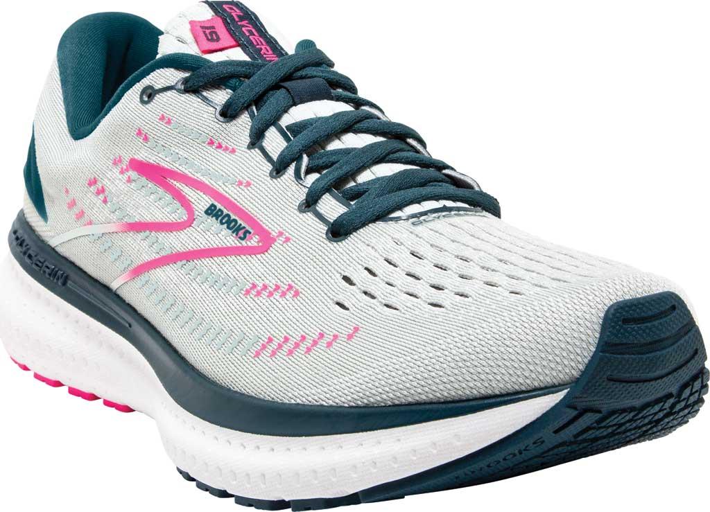 Women's Brooks Glycerin 19 Running Sneaker, Ice Flow/Navy/Pink, large, image 1
