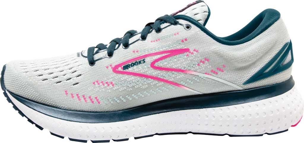 Women's Brooks Glycerin 19 Running Sneaker, Ice Flow/Navy/Pink, large, image 3