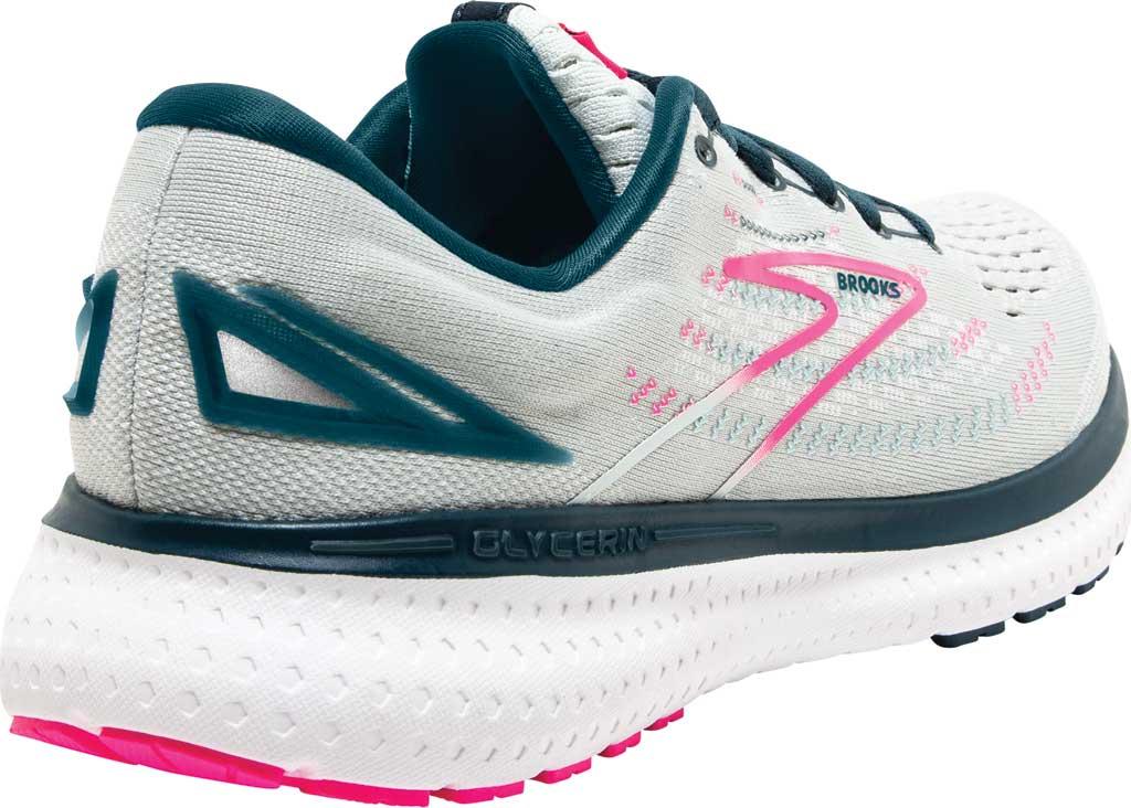Women's Brooks Glycerin 19 Running Sneaker, Ice Flow/Navy/Pink, large, image 4