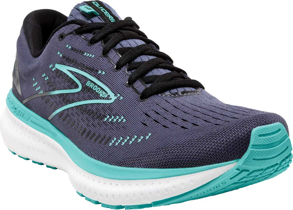 Women's Brooks Glycerin 19 Running Sneaker, Nightshadow/Black/Blue, large, image 1
