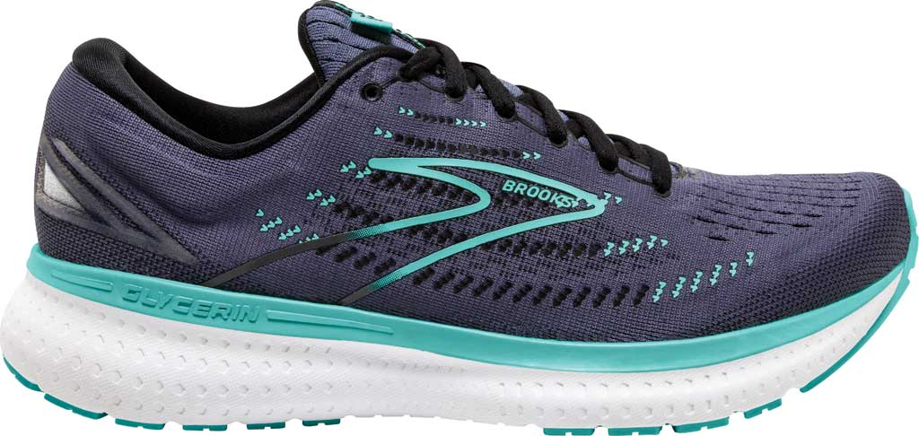 Women's Brooks Glycerin 19 Running Sneaker, Nightshadow/Black/Blue, large, image 2
