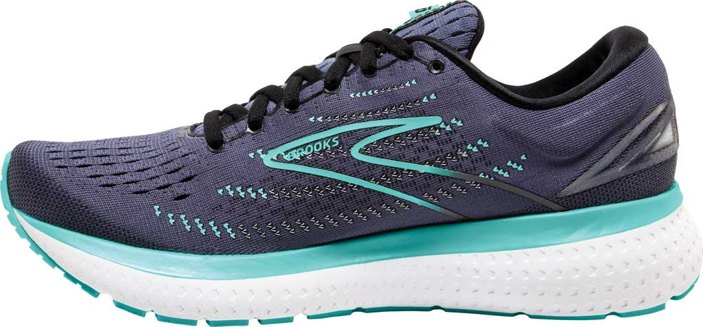 Women's Brooks Glycerin 19 Running Sneaker, Nightshadow/Black/Blue, large, image 3