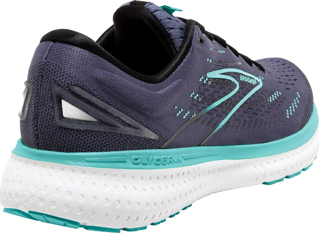 Women's Brooks Glycerin 19 Running Sneaker, Nightshadow/Black/Blue, large, image 4