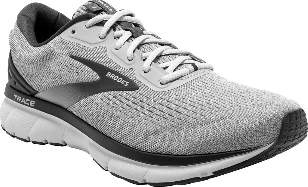 Men's Brooks Trace Running Sneaker, Alloy/Grey/Ebony, large, image 1