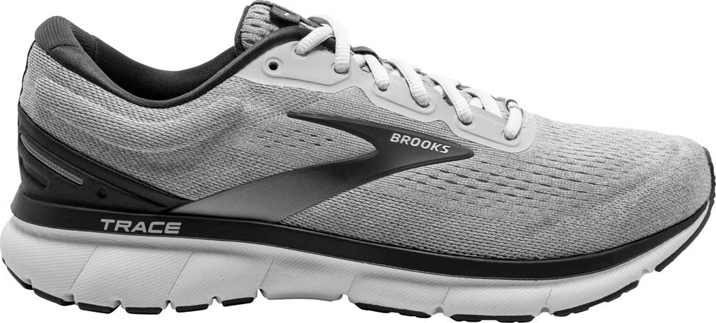 Men's Brooks Trace Running Sneaker, Alloy/Grey/Ebony, large, image 2