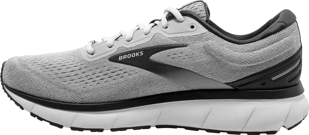 Men's Brooks Trace Running Sneaker, Alloy/Grey/Ebony, large, image 3
