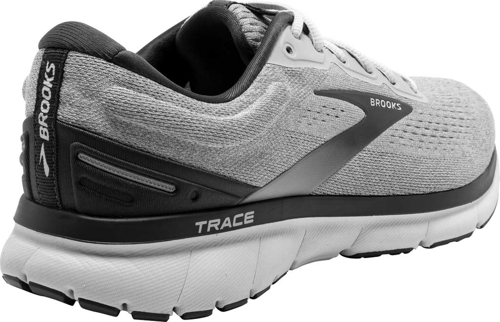 Men's Brooks Trace Running Sneaker, Alloy/Grey/Ebony, large, image 4