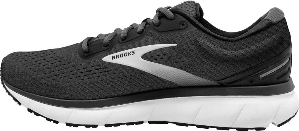 Men's Brooks Trace Running Sneaker, Black/Blackened Pearl/Grey, large, image 3