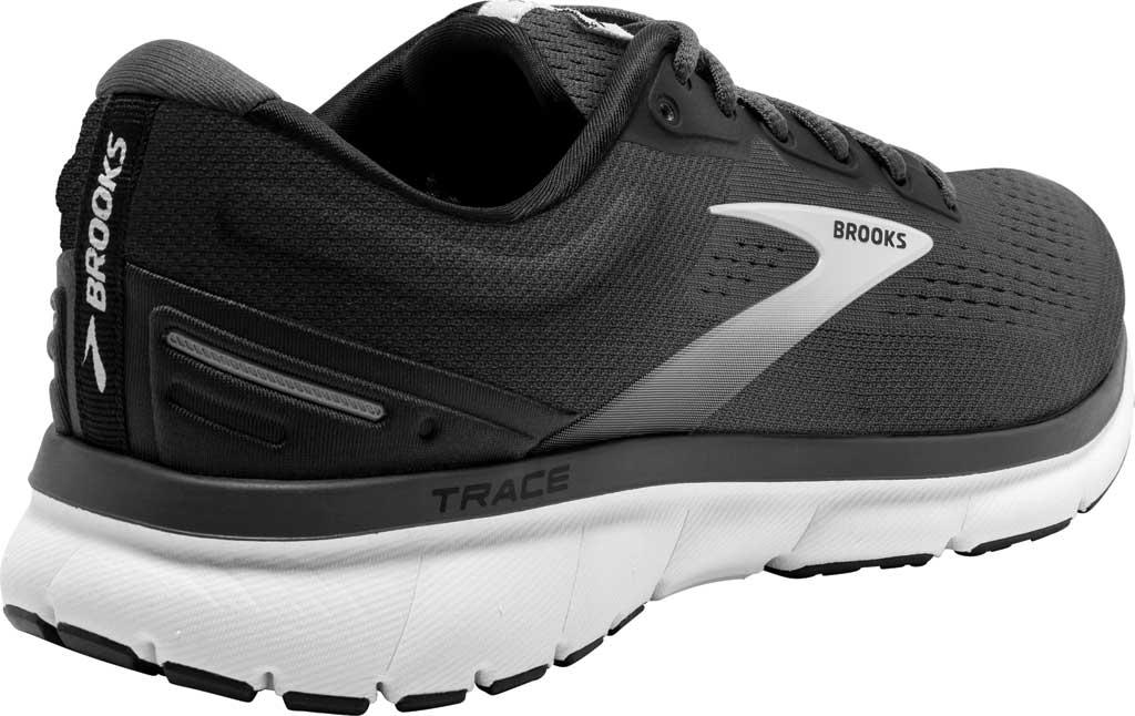 Men's Brooks Trace Running Sneaker, Black/Blackened Pearl/Grey, large, image 4