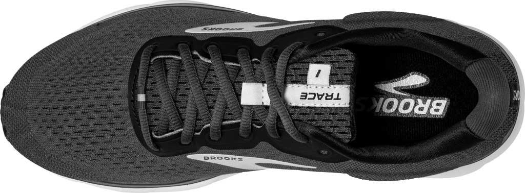 Men's Brooks Trace Running Sneaker, Black/Blackened Pearl/Grey, large, image 5