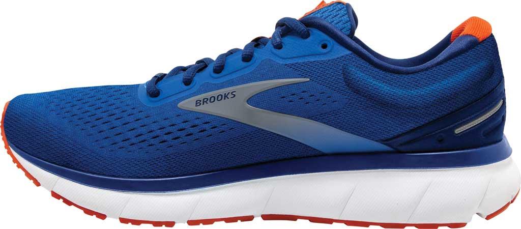 Men's Brooks Trace Running Sneaker, Blue/Navy/Orange, large, image 3
