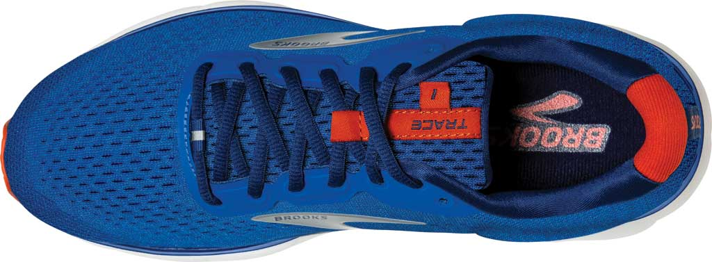 Men's Brooks Trace Running Sneaker, Blue/Navy/Orange, large, image 5