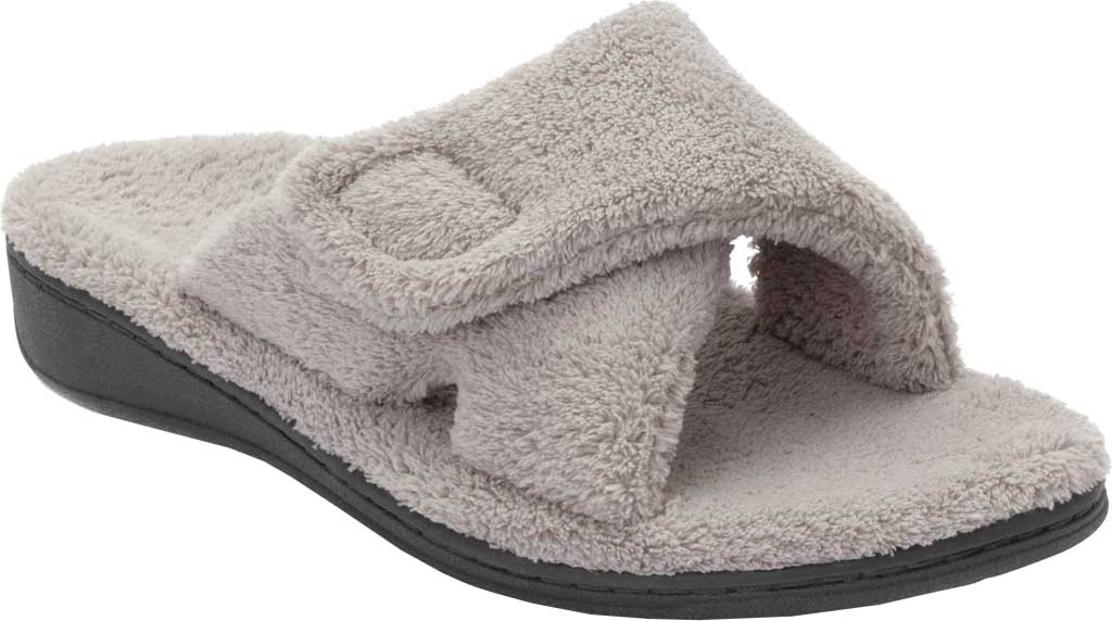 Women's Vionic Relax Slipper, Light Grey, large, image 1