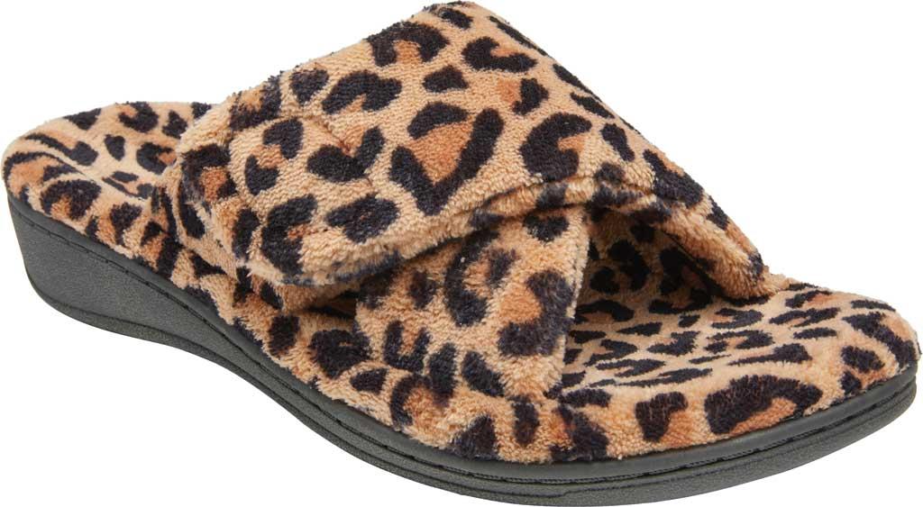 Women's Vionic Relax Slipper, Leopard Natural Tan Textile, large, image 1