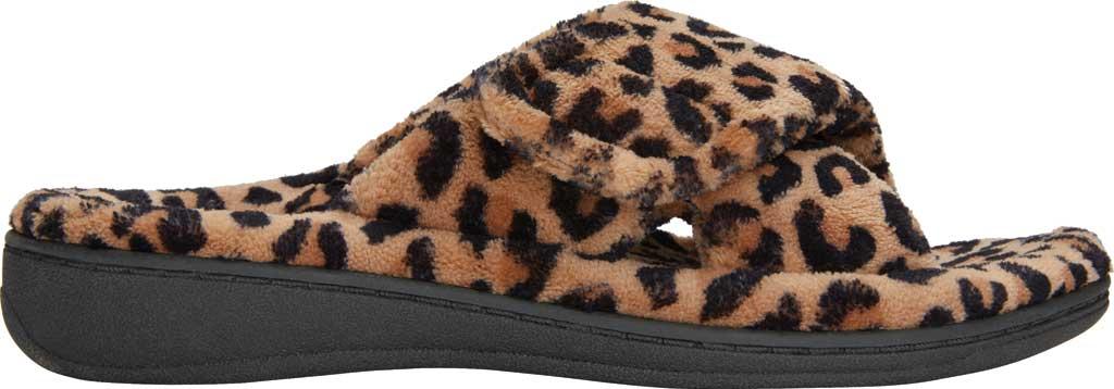 Women's Vionic Relax Slipper, Leopard Natural Tan Textile, large, image 2