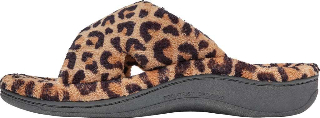 Women's Vionic Relax Slipper, Leopard Natural Tan Textile, large, image 3