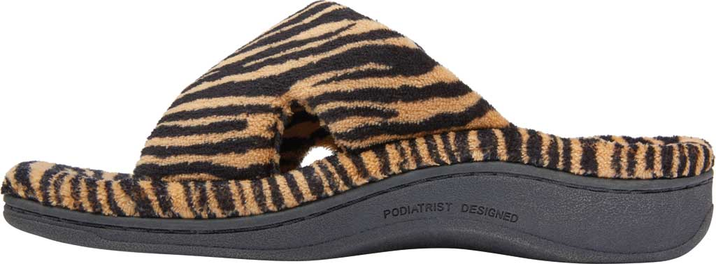 Women's Vionic Relax Slipper, Natural Tiger Textile, large, image 3