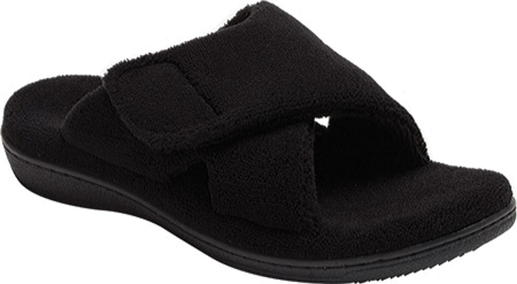 Women's Vionic Relax Slipper, Black, large, image 1