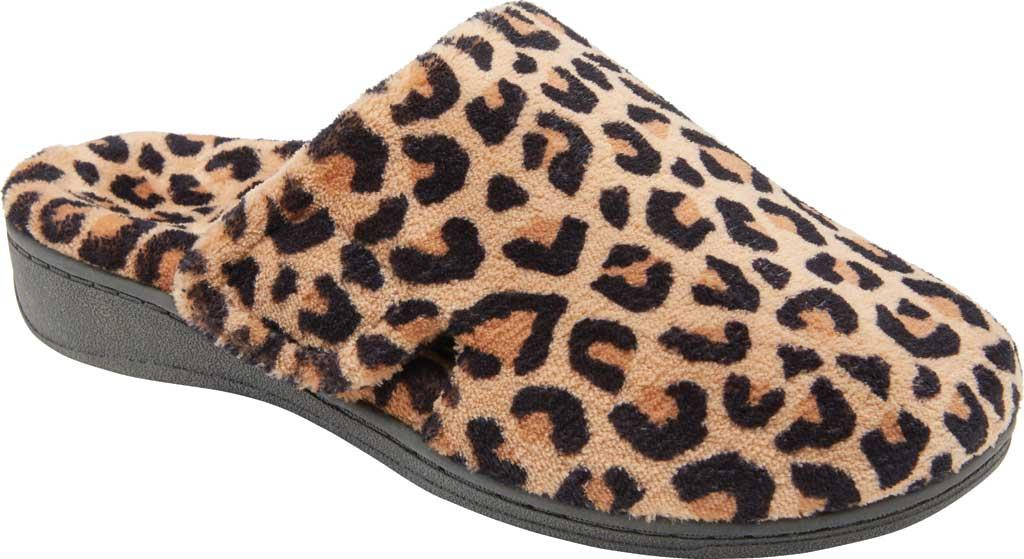 Women's Vionic Gemma Slipper, Leopard Natural Tan Textile, large, image 1