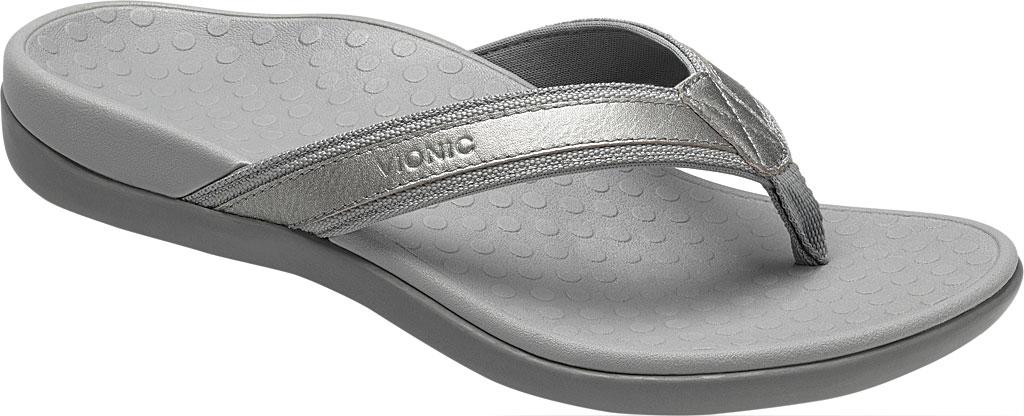 Women's Vionic Tide II Sandal, Pewter Metallic, large, image 1