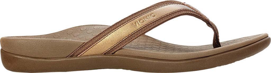 Women's Vionic Tide II Sandal, Bronze Metallic, large, image 2