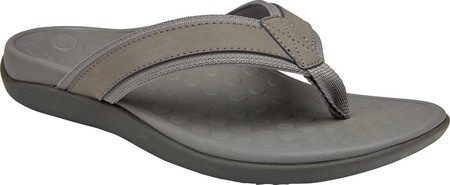 Men's Vionic Tide Toe Post Sandal, Charcoal Leather, large, image 1
