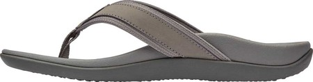 Men's Vionic Tide Toe Post Sandal, Charcoal Leather, large, image 3