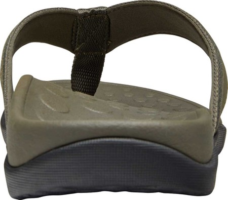 Men's Vionic Tide Toe Post Sandal, Charcoal Leather, large, image 4
