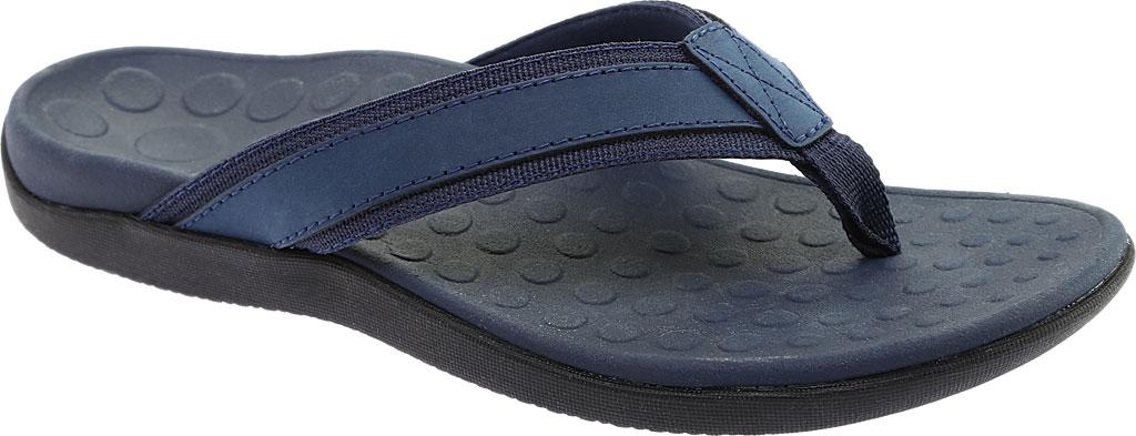 Men's Vionic Tide Toe Post Sandal, Navy Full Grain Leather, large, image 1