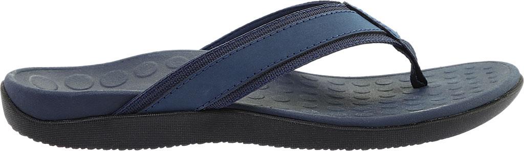 Men's Vionic Tide Toe Post Sandal, Navy Full Grain Leather, large, image 2