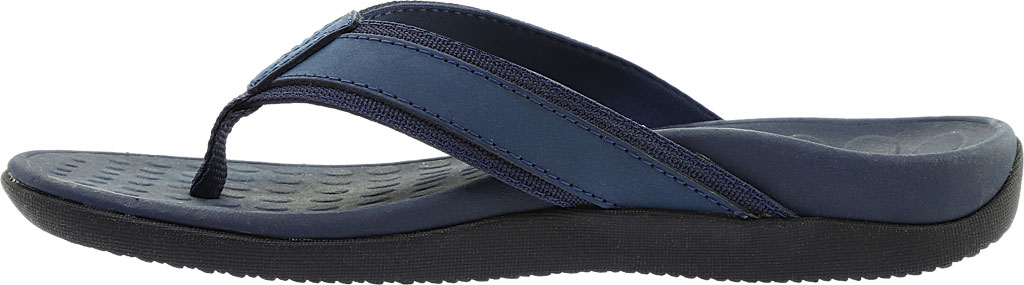 Men's Vionic Tide Toe Post Sandal, Navy Full Grain Leather, large, image 3