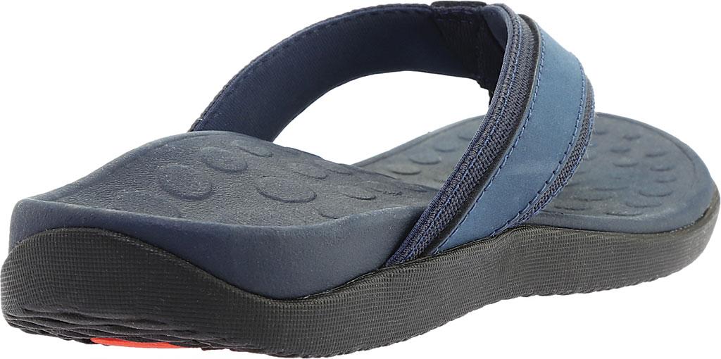 Men's Vionic Tide Toe Post Sandal, Navy Full Grain Leather, large, image 4