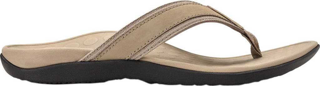 Men's Vionic Tide Toe Post Sandal, Taupe Full Grain Leather, large, image 2