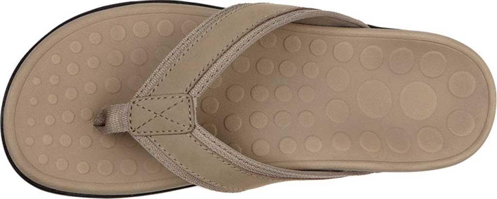 Men's Vionic Tide Toe Post Sandal, Taupe Full Grain Leather, large, image 3