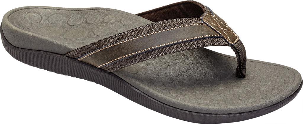 Men's Vionic Tide Toe Post Sandal, Brown, large, image 1