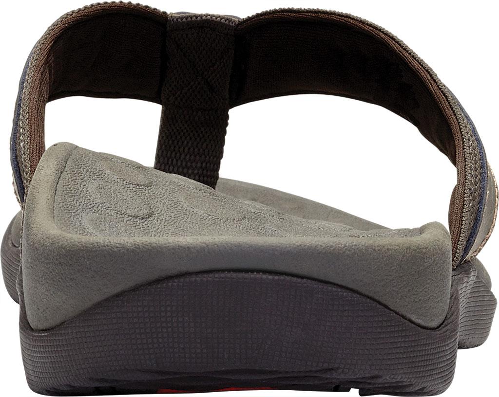 Men's Vionic Tide Toe Post Sandal, Brown, large, image 4