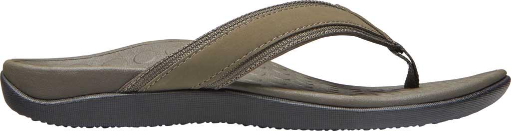 Men's Vionic Tide Toe Post Sandal, Olive Leather, large, image 2