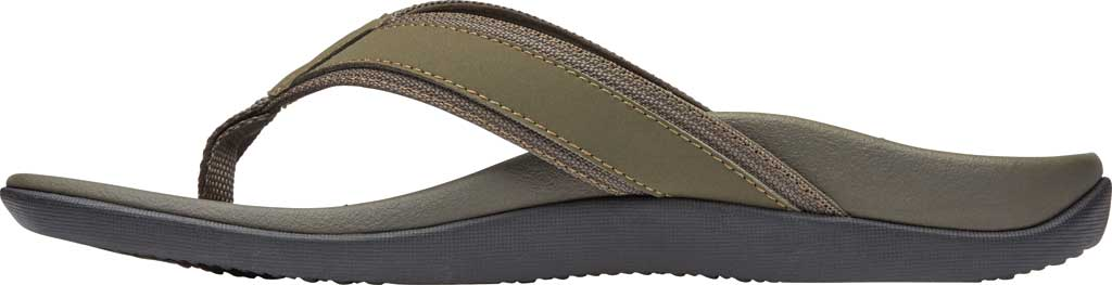 Men's Vionic Tide Toe Post Sandal, Olive Leather, large, image 3