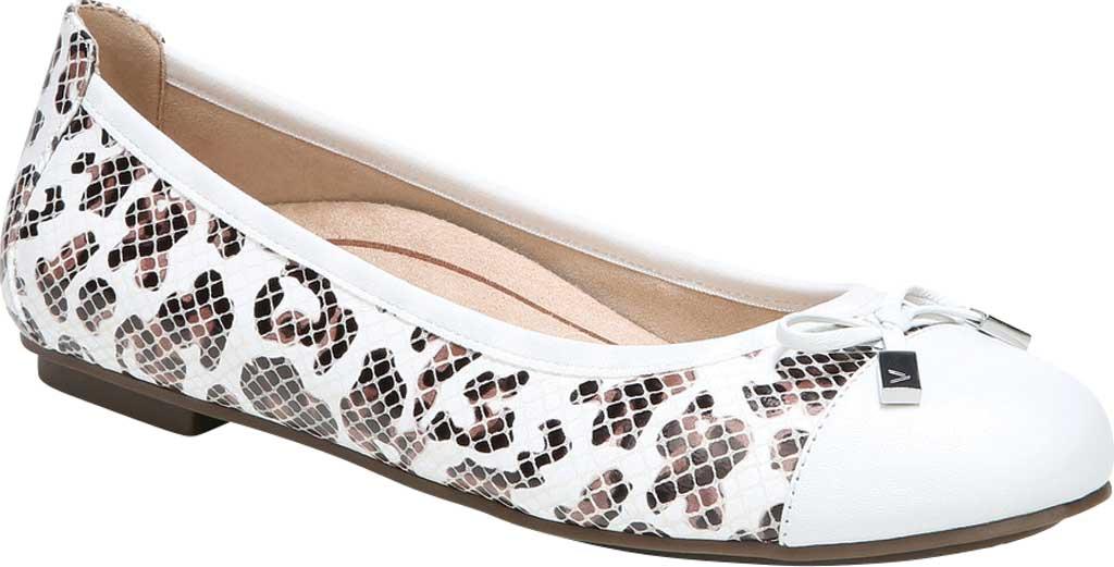 Women's Vionic Minna Ballet Flat, White Leopard Snake Print Leather, large, image 1