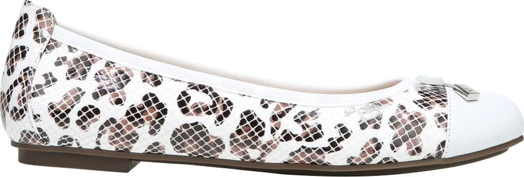 Women's Vionic Minna Ballet Flat, White Leopard Snake Print Leather, large, image 2