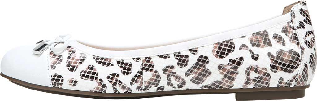 Women's Vionic Minna Ballet Flat, White Leopard Snake Print Leather, large, image 3