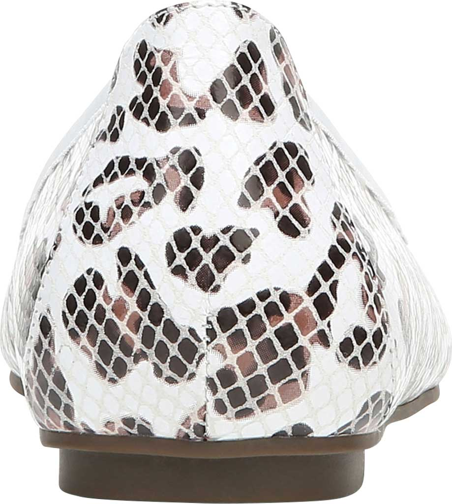 Women's Vionic Minna Ballet Flat, White Leopard Snake Print Leather, large, image 4