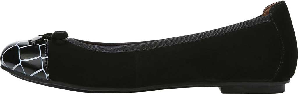 Women's Vionic Minna Ballet Flat, Black Croc Suede, large, image 3